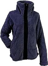 Apparel No. 5 Women's Sherpa Fleece Full Zip Warm Winter Jacket (X-Large, Navy Blue)