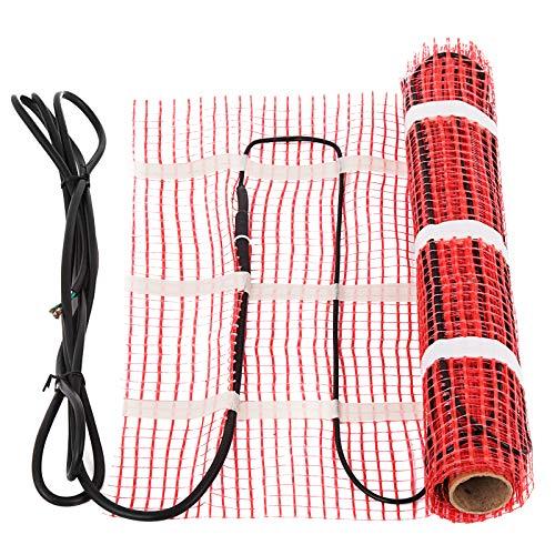 Happybuy 90 Sqft 120V Electric Radiant Floor Heating Mat with Alarmer and Programmable Floor Sensing Thermostat Self-Adhesive Mesh Underfloor Heat Warming Systems Mats Kit (90Sqft Kit)