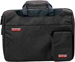 Promate Laptop Briefcase, Multi-Functional Shoulder Messenger Bag with Water Resistant Anti-Theft Laptop bag and Detachable Mini Case for Business, College, Notebook, Laptop, Desire-S Black
