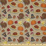 Lunarable Thanksgiving Stoff von The Yard, Happy November