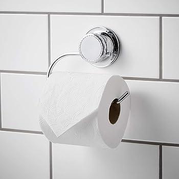 Fijaci/ón sin Perforaci/ón Tatkraft Megalock Portarrollos Papel Higienico de Pared con Ventosa sin Agujeros 14.5 X 0.5 X 8.1cm