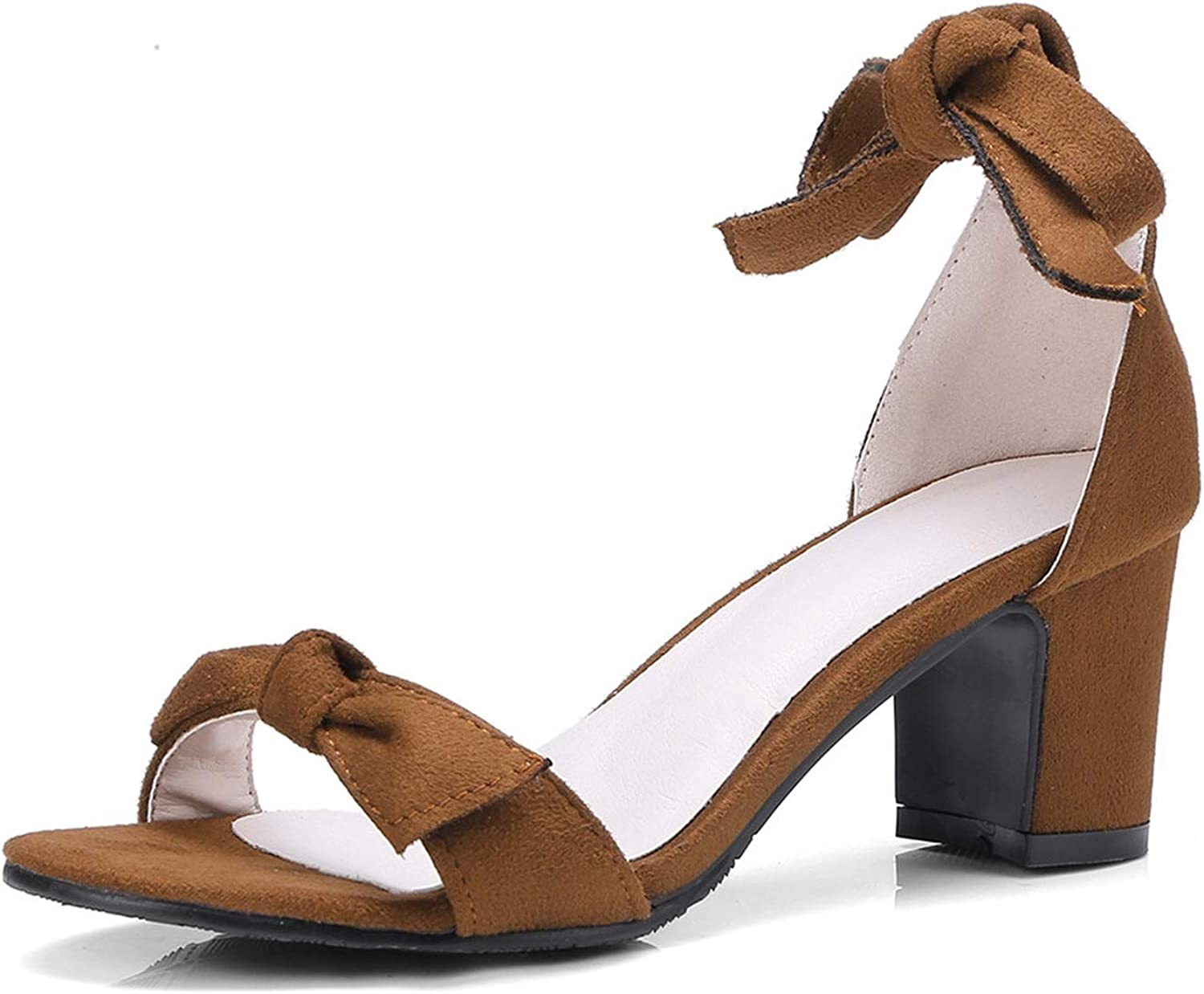 Summer shoes Woman Square Heel Ankle Strap Prom Wedding shoes Flock Sandals Women
