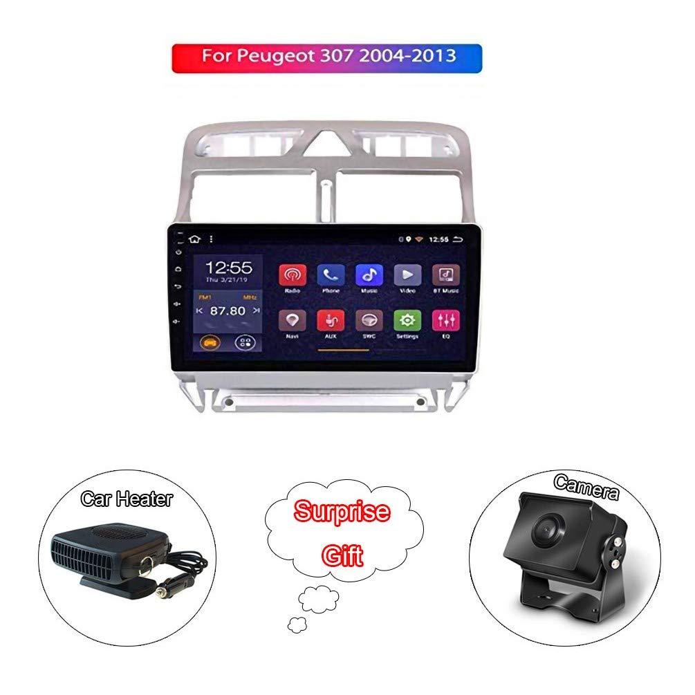 """XMZWD 9""""Radio Stéréo Multimédia Android 8.1 Système De Navigation GPS à écran Tactile/Bluetooth/Lien Miroir, pour Peugeot 307 2004-2013 (Contenir Appareil Photo/Chauffage De Voiture)"""