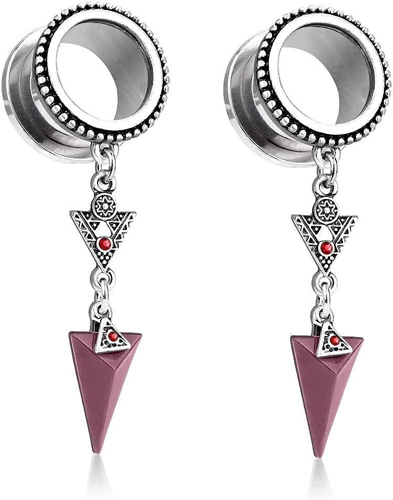 Pierced Owl Burnished Silver Plated Tribal Latest item Arrow Stainless Steel Luxury