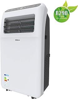 SHINCO 2,6kW 9000 BTU Aire Acondicionado Portátil, Enfría, Ventila y Deshumidifica, Mando a Distancia, Blanco, [Clase de eficiencia energética A] hasta 34 m²