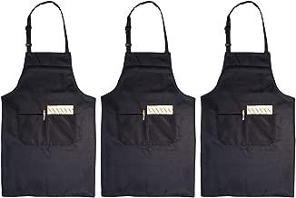 Restaurant BESTZY 2 Pi/èces Tablier de Cuisine Tablier de Cuisine en Lin Ajustable Tablier de Chef Doux avec Poche /Étanche R/églable Anti T/âches pour Cuisine Familial Barbecue