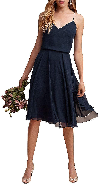 RTTUTED Long Short VNeckline Prom Gowns for Women Formal Evening Dress Bridesmaid Skirt