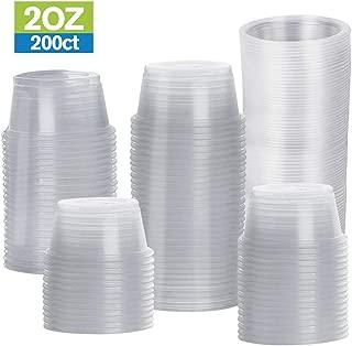 TashiBox Disposable Mini Cups, Portion Cups (No Lids), 200 Count (2 oz)