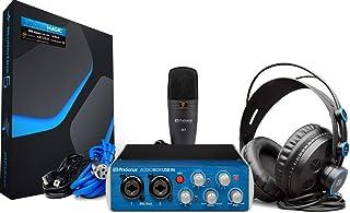 PreSonus AudioBox 96 Studio USB 2.0 Recording Bundle with Interface, Headphones, Microphone and Studio One software (Renewed)