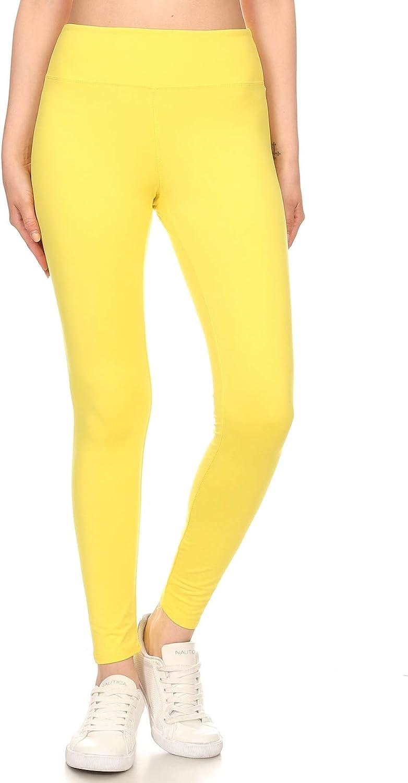SOLMI Ultra Soft Premium Fabric Yoga Waist Comfortable Full Length Leggings