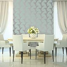Tempaper Horizon and Sterling Vine Floral | Designer Removable Peel and Stick Wallpaper