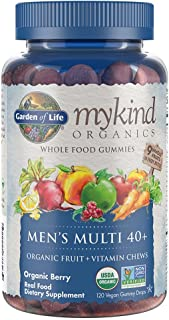 Garden of Life - mykind Organics Men 40+ Gummy Vitamins - Berry - Certified Organic, Non-GMO, Vegan, Kosher Complete Multi...