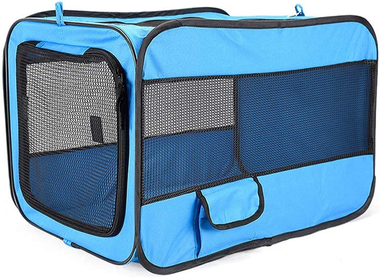 FELICIOO 600D Oxford Cloth Portable Folding Pet Car Nest (color   bluee, Size   S)