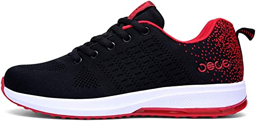 Lxmhz Running zapatos Deportivos para mujer Hauszapatos Entrenadores al Aire Libre Transpirable Armadura de Vuelo Entrenadores Ligero Choque absorción Caminar Pareja Zapato