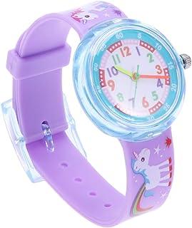 Hemobllo Unicorn Watch Silicone Cartoon Waterproof Watch for Kids Gifts