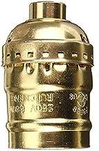 SGJFZD 54x31mm Vintage Aluminum Pendant Lamp Holder Light Lamp Bulb Base Holder with E27 Screw ( Color : Gold )