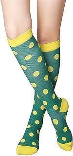 YUNLAN, YUNLAN Calcetines Multicolores para Mujeres y Muslos para Hombres, adecuados para Estiramiento y estrés al Aire Libre Calcetines de enfermería elástica (1 par) Calcetines Hombre