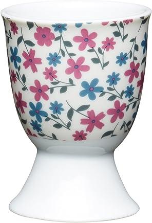 Preisvergleich für Kitchen Craft Eierbecher Gänseblümchen aus Porzellan, Mehrfarbig, 12 x 17 x 22 cm