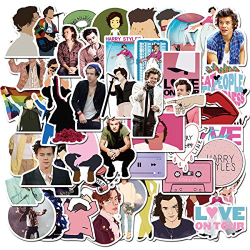 Super Star Singer Harry Edward Styles Decal Stickers for Laptop and Water Bottles,Waterproof Durable Trendy Vinyl Decal Stickers Pack for Teens, Computer, Travel Case (Harry Edward Styles)