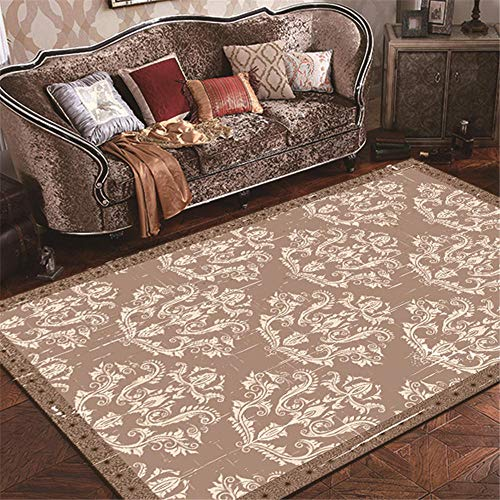 ZHAOPAI lounge rugs large Grey carpet geometric floral pattern does not fade, coffee table, antistatic carpet carpet rug -gray_80x160cm