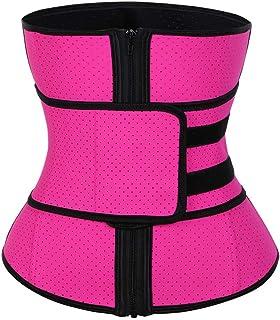 fcca5db1426 FeelinGirl Women's Latex Underbust Corset Waist Training Trainer Sport  Girdle
