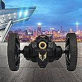 LINXIANG Coche de acrobacias con rebote RC de alta velocidad, coche con control remoto giratorio de 360 ° con cámara WiFi HD, coche de salto RC, rotación de 360 °, música y luz LED, coche de jugue