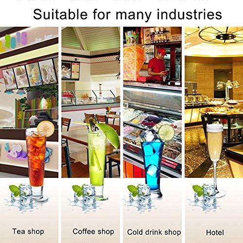 61I8jkGcreL - HIZLJJ Eiswürfelmaschinen, Kommerzielle Eismaschine, 88LBS / 24h freistehende bewegliche Edelstahl-EIS-Hersteller-Maschine unter Gegen Eismaschine for Restaurants Bars