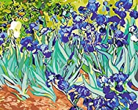 絵画のためのデジタルペイントブラシと壁の芸術の写真の装飾のためのアクリル絵の具の抽象的な花で番号によるDiyペイント