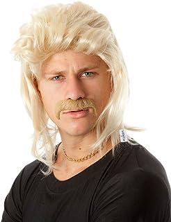 4008c1df4bc89 ALLAURA 80 s Mullet Wigs for Men- Blonde Redneck Hillbilly Costume Wigs  Accessories