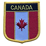 Canada Flag Patch / Travel Badge Iron-On Shield (Canadian Crest, 2.75' x 2.35')