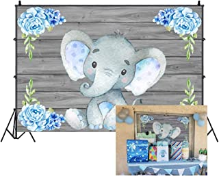 Cassisy 2,2x1,5m Vinilo Elefante Telon de Fondo Baby Shower Telón De Fondo Niño Elefante Cumpleaños Pared de Madera Fondos para Fotografia Fiesta Bebé Recién Nacido Photo Studio Props Photo Booth