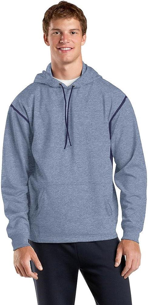 Sport Tek Tall Tech Fleece Hooded Sweatshirt-2XLT (Grey Heather/True Navy)