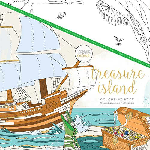 Kaisercraft Colouring Book Treasure Island, 25 x 25 x 0.6 cm, White