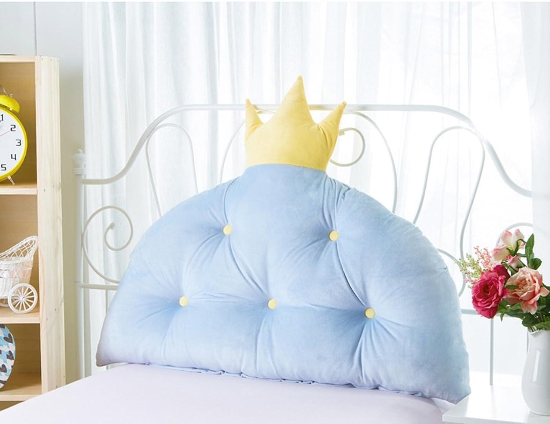 Dossier De Chevet chambre princesse chevet oreiller coussins grands enfants de dossier (Couleur   Bleu, taille   100  80CM)