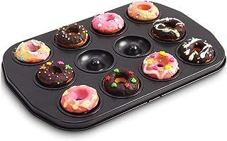JD Plateau de cuisson, moule Donut 12 Même Mini Pâte à biscuits creux bricolage gâteau moule de cuisson antiadhésif de cui...