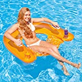 Sofá Flotante Inflable Single PVC Beach Pool Reclinable Water Lounge Chair, Beach...