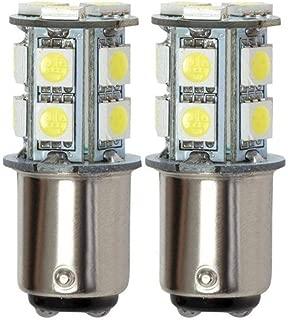GRV Ba15d 1076 1142 High Bright Car LED Bulb 13-5050SMD DC 12V Cool White Pack of 2