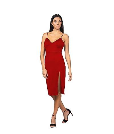 Bebe High Slit Knit Midi Dress