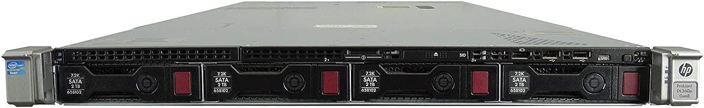 2X Intel Xeon E5-2667 2.9GHz 6C 2X 300GB 15K SAS 2.5 HP ProLiant DL360p G8 8-Bay SFF 1U Server P420i RAID No Rails 2X 460W PSUs 16GB DDR3 Certified Refurbished
