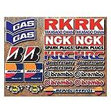 24 adhesivos de carreras de motos