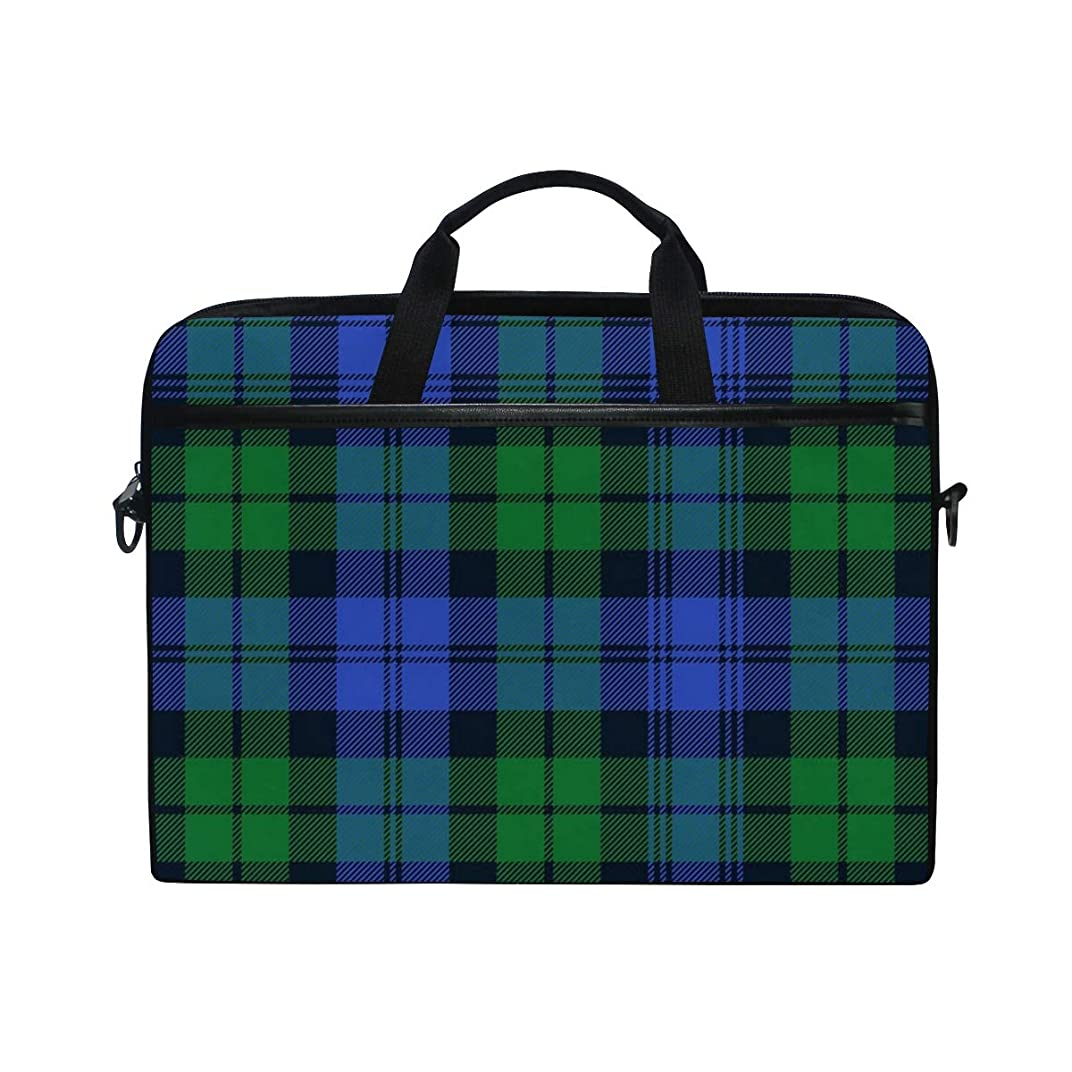 Campbell Tartan Laptop Bag Travel Briefcase with Organizer Water Resisatant with Adjustable Shoulder Strap for Men and Women Fits 14 Inch to 15.6 Inch Laptop,Computer,Tablet