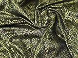 Minerva Crafts Brokat-Stoff, Meterware, goldfarben