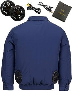 MASTORE 空調服 作業服 長袖 綿 空調服 バッテリー ファン セット ワークウェア ファン服 夏 熱中症対策
