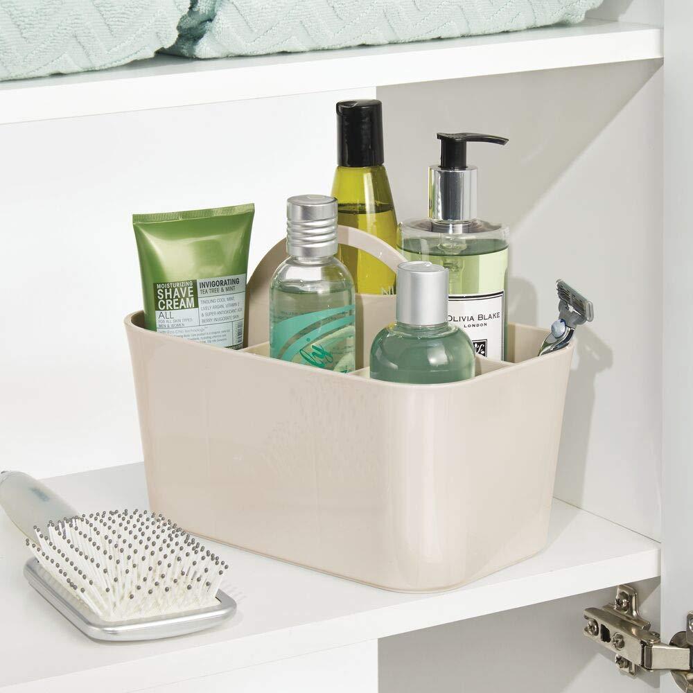mDesign Juego de 2 cestas de baño con asa – para Usar como ...