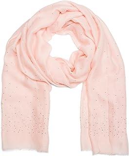 8dcd19ed13bc68 styleBREAKER pashmina leggera a tinta unita ricoperta di perline e strass e  con frange, foulard