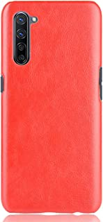 zl one Compatible with/Replacement for OPPO K7 5G PU Leather Case Back Cover (Red)