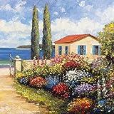 Florals by The Sea, 4 tovaglioli di carta per decoupage, a 3 veli, 33 x 33 cm (confezione da 4 tovaglioli singoli)