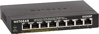 NETGEAR GS308P SOHO 8-Port Gigabit Unmanaged Switch with 4-Port PoE