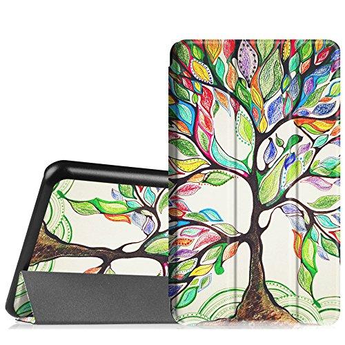 Fintie Hülle für Samsung Galaxy Tab A 7.0 Zoll SM-T280 / SM-T285 Tablet (2016 Version) - Ultra Schlank Superleicht Ständer Slim Shell Hülle Cover Schutzhülle Etui Tasche, Liebesbaum