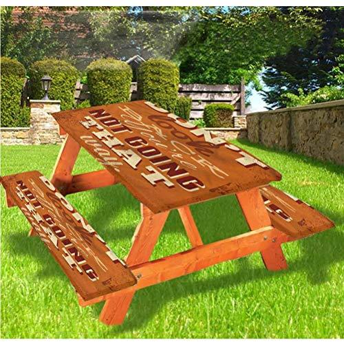 LEWIS FRANKLIN - Cortina de ducha divertida de lujo para picnic, mantel, con borde elástico, 28 x 172 pulgadas, juego de 3 piezas para mesa plegable